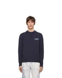 Мужской темно-синий свитер с круглым вырезом от Off-White