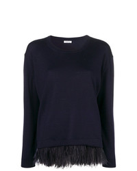 Женский темно-синий свитер с круглым вырезом от P.A.R.O.S.H.