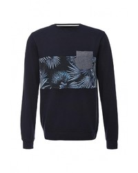 Мужской темно-синий свитер с круглым вырезом от Quiksilver