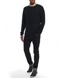 Мужской темно-синий свитер с круглым вырезом от Revolution