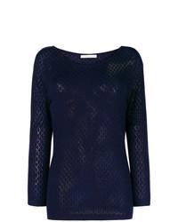 Женский темно-синий свитер с круглым вырезом от Stefano Mortari