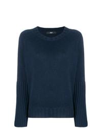 Женский темно-синий свитер с круглым вырезом от Steffen Schraut