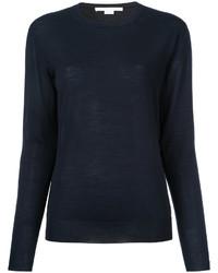 Женский темно-синий свитер с круглым вырезом от Stella McCartney