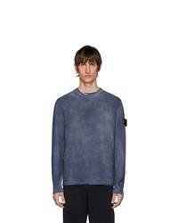 Мужской темно-синий свитер с круглым вырезом от Stone Island