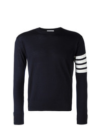 Мужской темно-синий свитер с круглым вырезом от Thom Browne