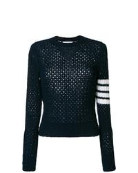 Женский темно-синий свитер с круглым вырезом от Thom Browne