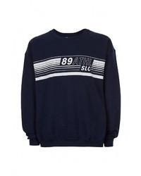 Мужской темно-синий свитер с круглым вырезом от Topman
