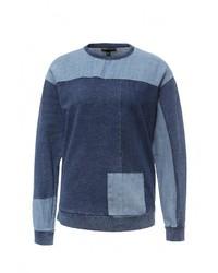 Женский темно-синий свитер с круглым вырезом от Topshop