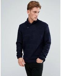 Темно-синий свитер с отложным воротником от Bellfield