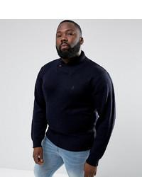 Темно-синий свитер с отложным воротником от French Connection