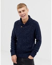 Темно-синий свитер с отложным воротником от Pier One