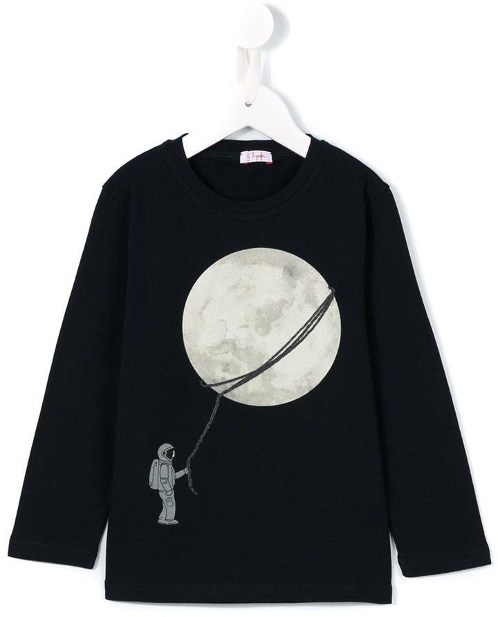 Детский темно-синий свитер с принтом для мальчику от Il Gufo