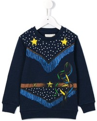 Детский темно-синий свитер с принтом для мальчику от Stella McCartney