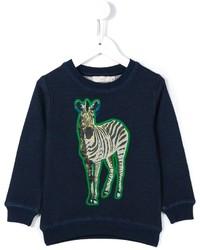 Детский темно-синий свитер с принтом для девочке от Stella McCartney