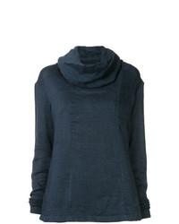 Темно-синий свитер с хомутом