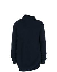 Мужской темно-синий свитер с хомутом от Jil Sander