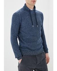 Мужской темно-синий свитер с хомутом от Tom Tailor