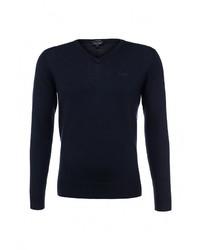 Мужской темно-синий свитер с v-образным вырезом от Armani Jeans
