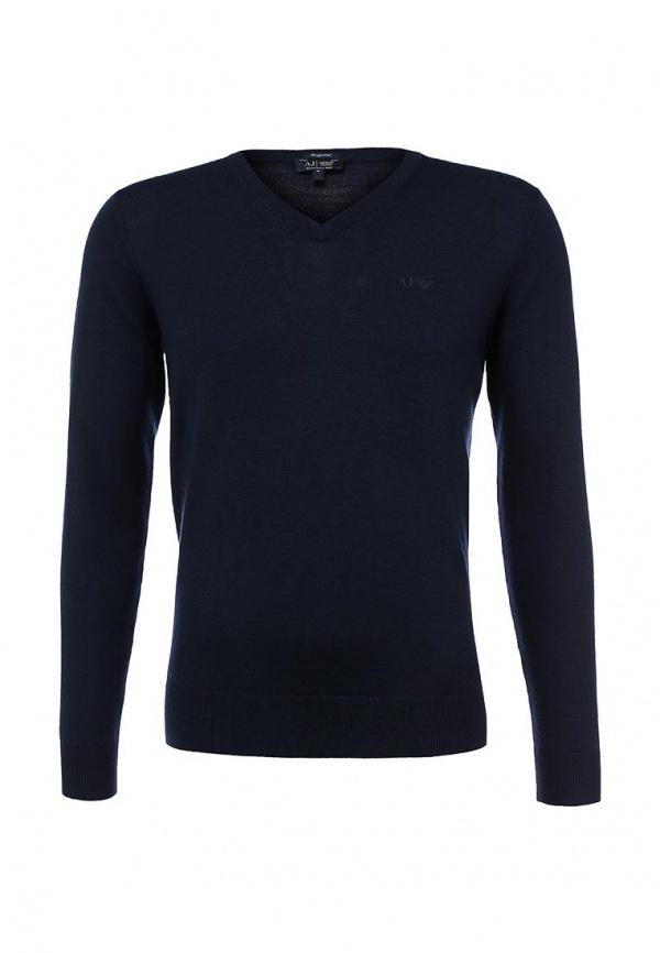 ... Мужской темно-синий свитер с v-образным вырезом от Armani Jeans ... 9717ac0f7f9