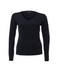 Женский темно-синий свитер с v-образным вырезом от Baon