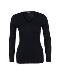 Женский темно-синий свитер с v-образным вырезом от Bebe