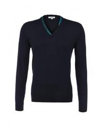 Мужской темно-синий свитер с v-образным вырезом от Bikkembergs
