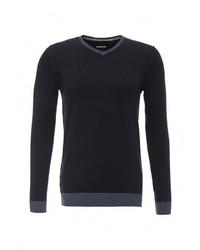 Мужской темно-синий свитер с v-образным вырезом от Celio