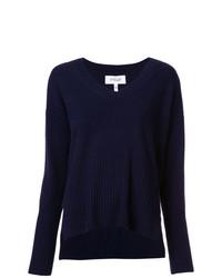 Женский темно-синий свитер с v-образным вырезом от Derek Lam 10 Crosby
