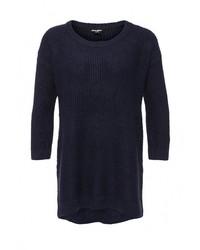 Женский темно-синий свитер с v-образным вырезом от Jennyfer
