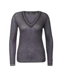 Женский темно-синий свитер с v-образным вырезом от Love Republic