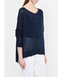 Женский темно-синий свитер с v-образным вырезом от MAX&Co