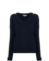 Женский темно-синий свитер с v-образным вырезом от N.Peal
