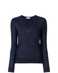 Женский темно-синий свитер с v-образным вырезом от Pringle Of Scotland