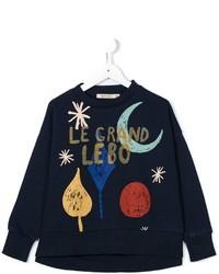 Детский темно-синий свитер для мальчику от Bobo Choses
