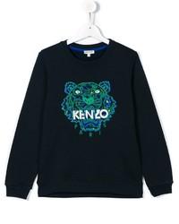 Детский темно-синий свитер для девочке от Kenzo