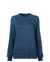 Женский темно-синий свободный свитер от Elizabeth and James