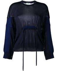 Женский темно-синий свободный свитер от Kenzo