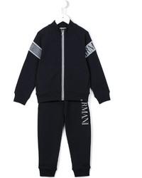 Детский темно-синий спортивный костюм для мальчику от Armani Junior
