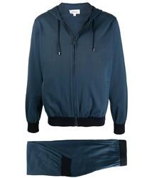 Мужской темно-синий спортивный костюм от Brioni