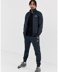 Мужской темно-синий спортивный костюм от EA7