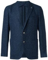 Мужской темно-синий твидовый пиджак от Tagliatore