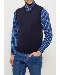 Мужской темно-синий трикотажный жилет от Marks & Spencer