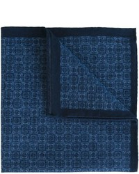 Темно-синий хлопковый нагрудный платок с принтом от Eleventy