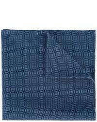 Мужской темно-синий хлопковый нагрудный платок от Eleventy