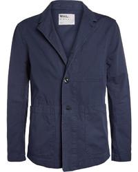Темно-синий хлопковый пиджак