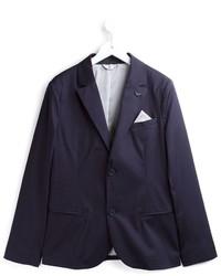 Детский темно-синий хлопковый пиджак для мальчику от Armani Junior