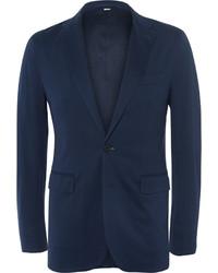 Мужской темно-синий хлопковый пиджак от Burberry