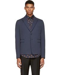 Мужской темно-синий хлопковый пиджак от Dolce & Gabbana