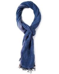 Темно-синий хлопковый шарф