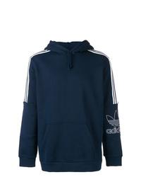 Мужской темно-синий худи с принтом от adidas